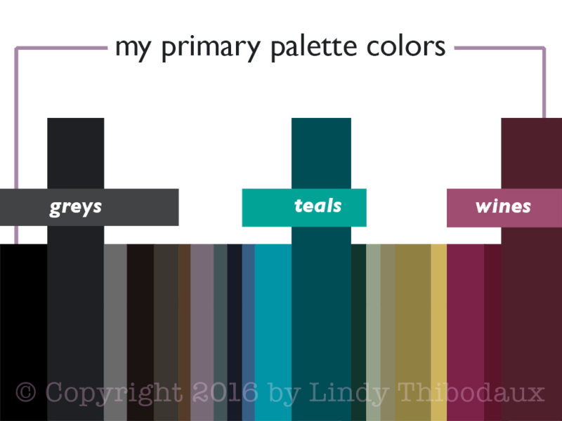 Primary wardrobe palette colors
