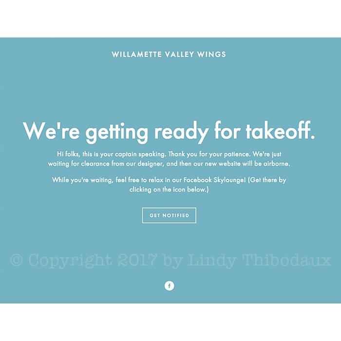 Willamette Valley Wings landing page