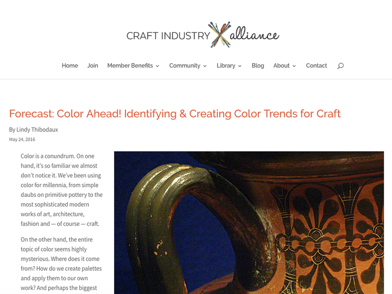 Forecast: Color Ahead! Article for CIAJ